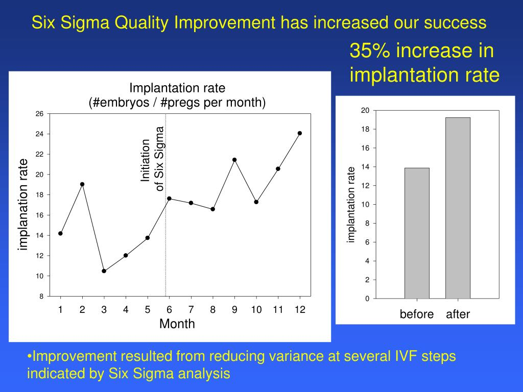 Six Sigma Quality Improvement has increased our success