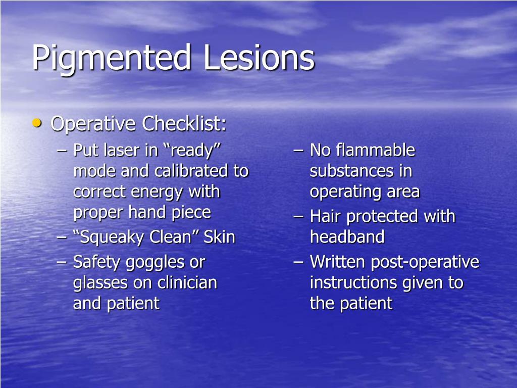 Operative Checklist: