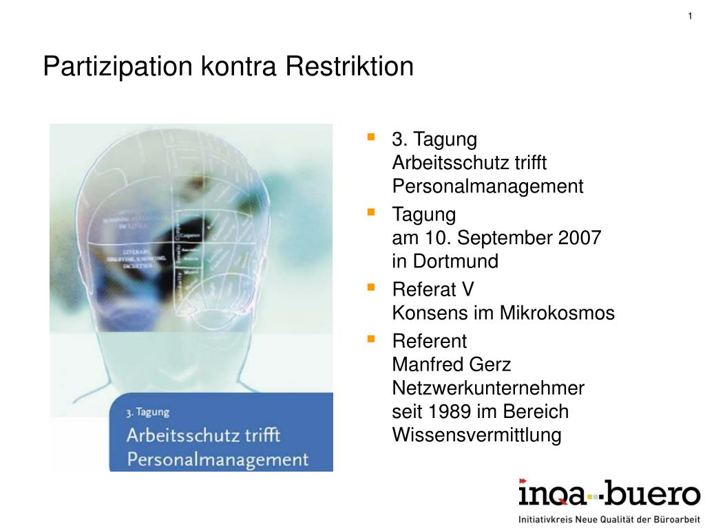 Partizipation kontra Restriktion