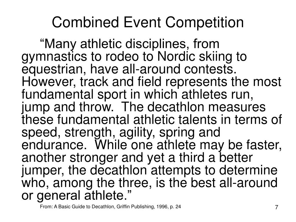 Combined Event Competition
