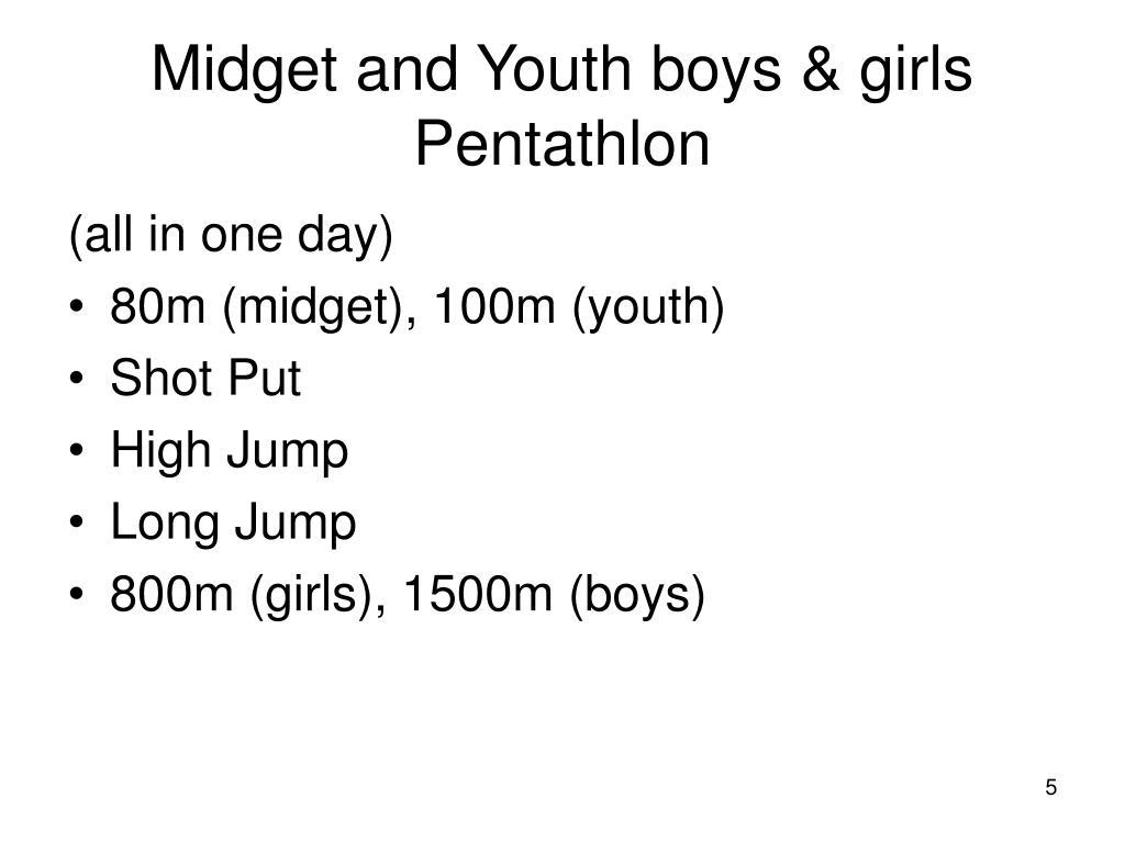 Midget and Youth boys & girls