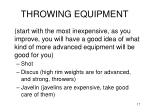 throwing equipment