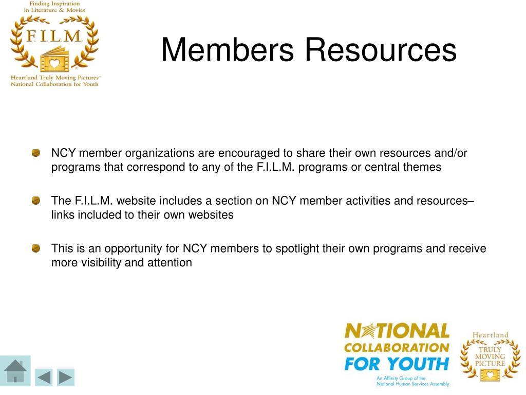 Members Resources