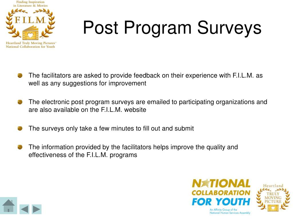 Post Program Surveys