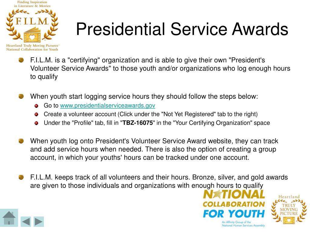 Presidential Service Awards