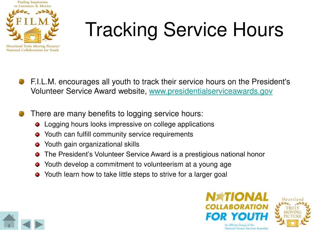 Tracking Service Hours
