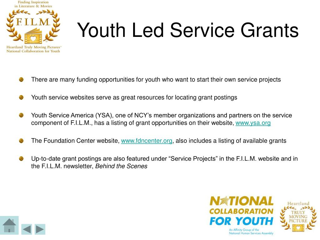Youth Led Service Grants