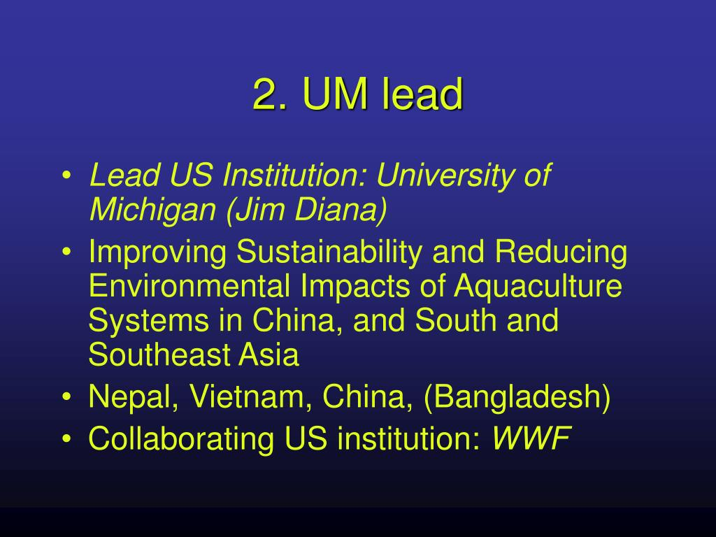 2. UM lead