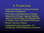 6 purdue lead