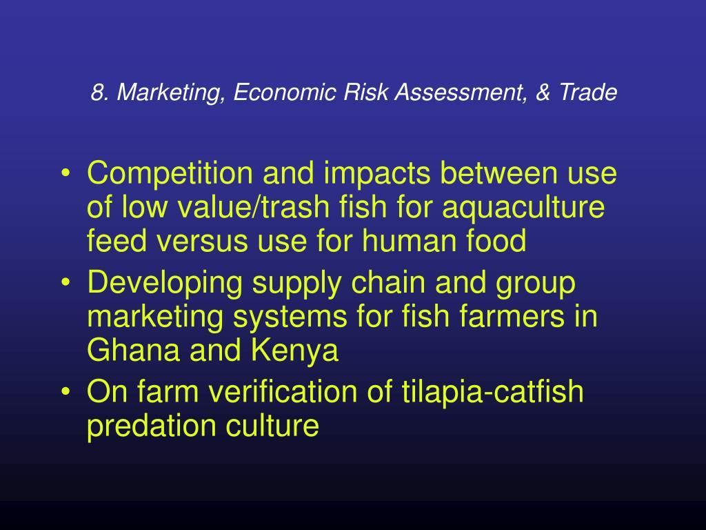 8. Marketing, Economic Risk Assessment, & Trade