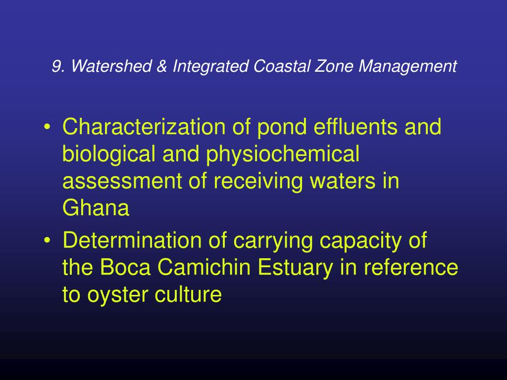 9. Watershed & Integrated Coastal Zone Management