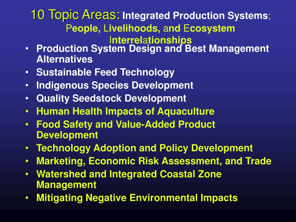 10 Topic Areas: