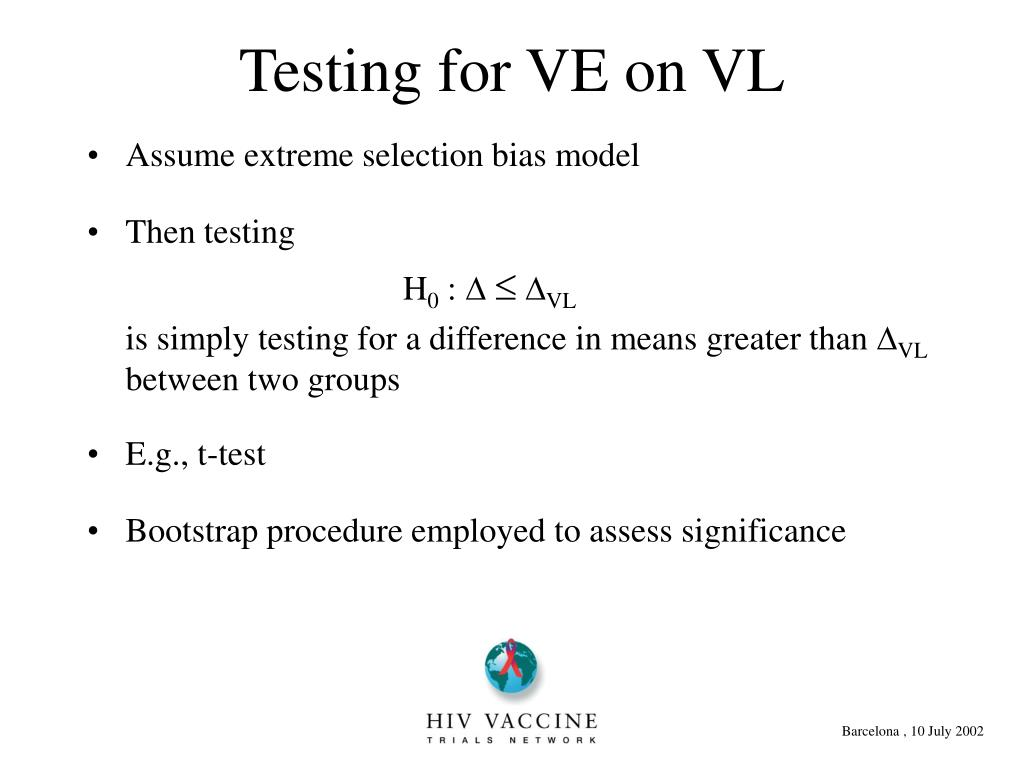 Assume extreme selection bias model