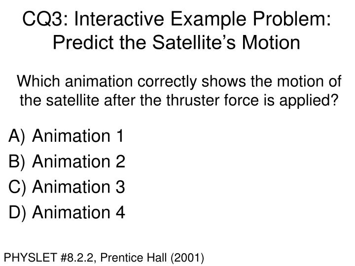 CQ3: Interactive Example Problem: