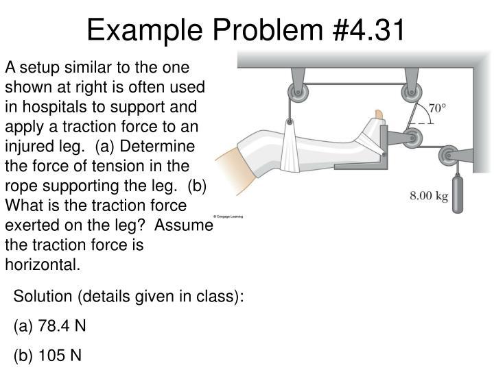Example Problem #4.31