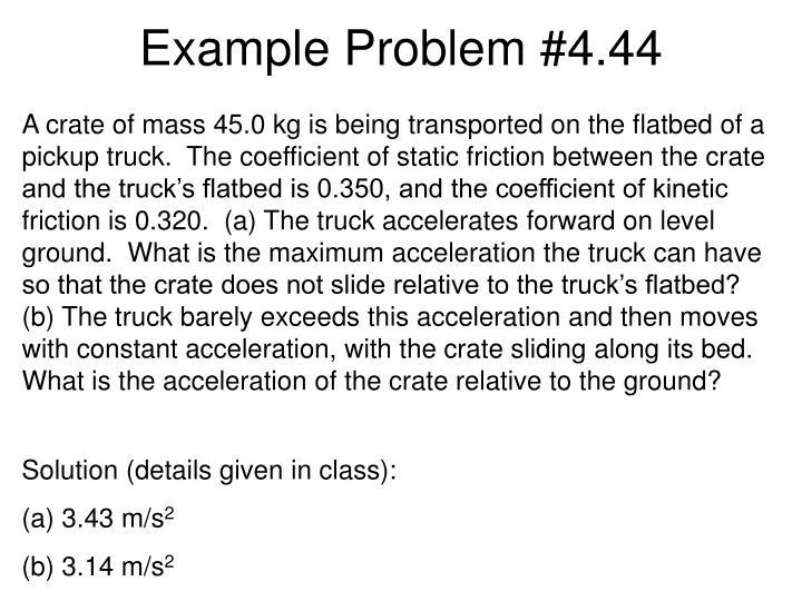 Example Problem #4.44
