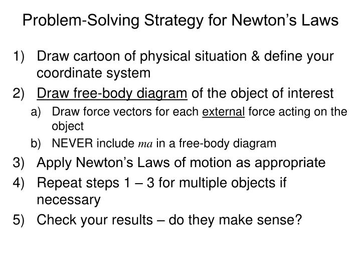 Problem-Solving Strategy for Newton's Laws