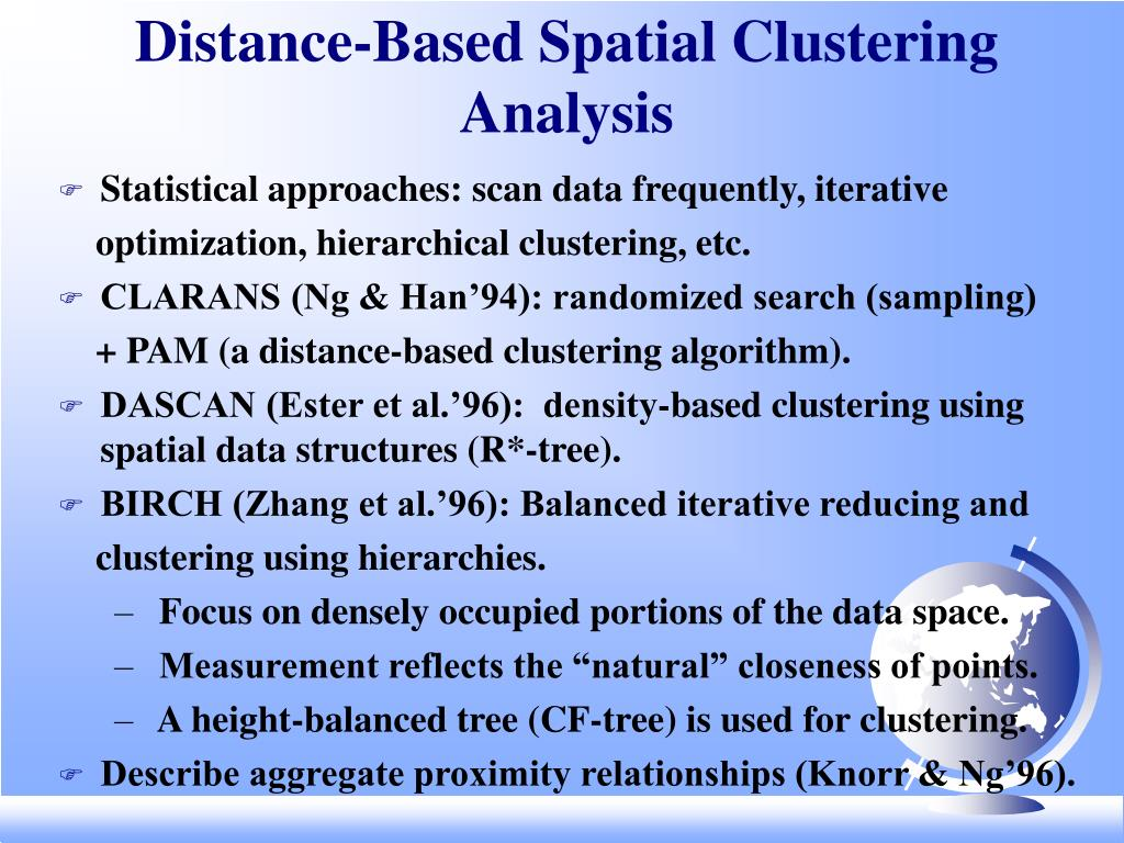 Distance-Based Spatial Clustering Analysis