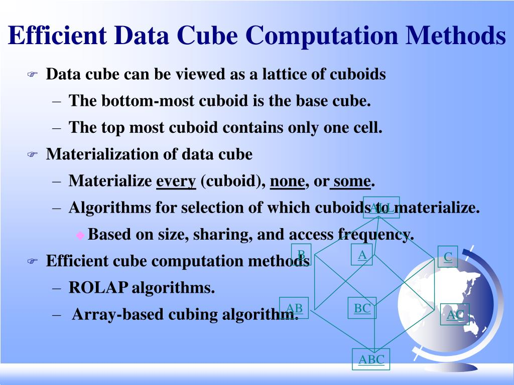 Efficient Data Cube Computation Methods