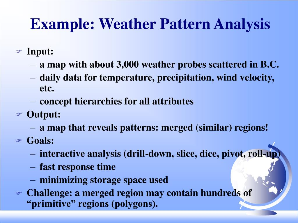Example: Weather Pattern Analysis