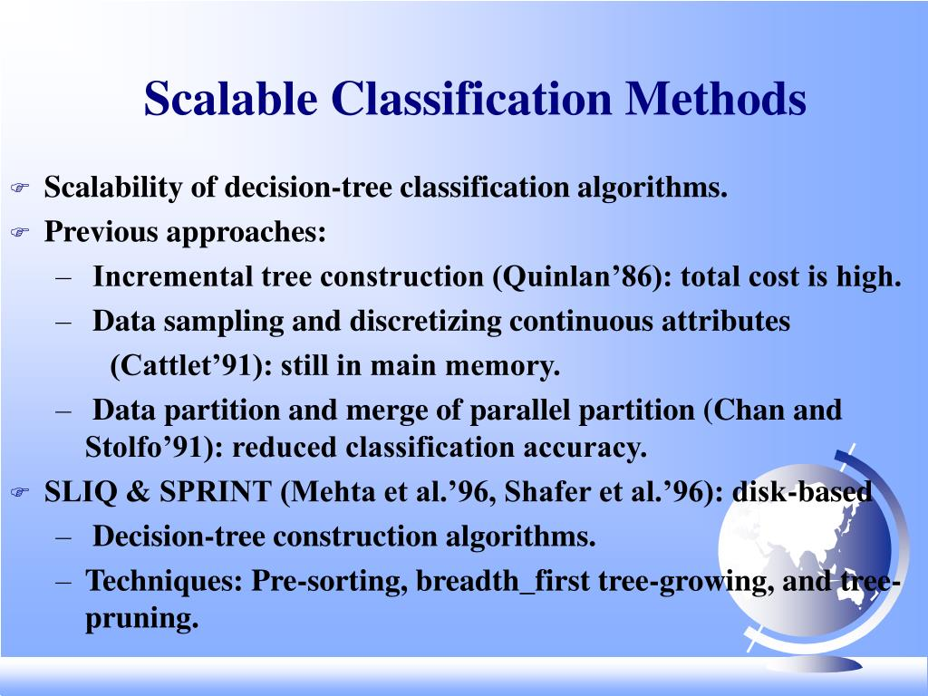 Scalable Classification Methods