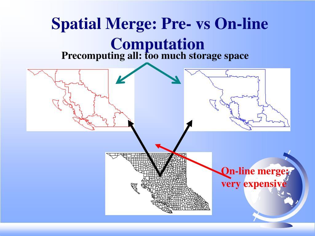 Spatial Merge: Pre- vs On-line Computation