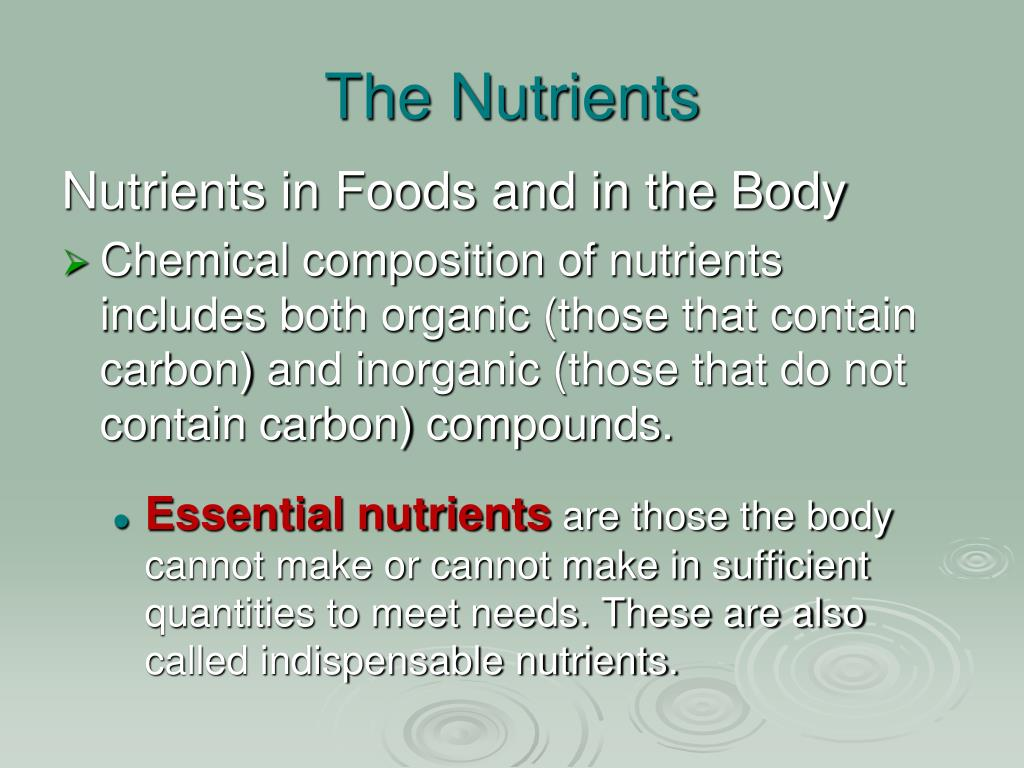 The Nutrients