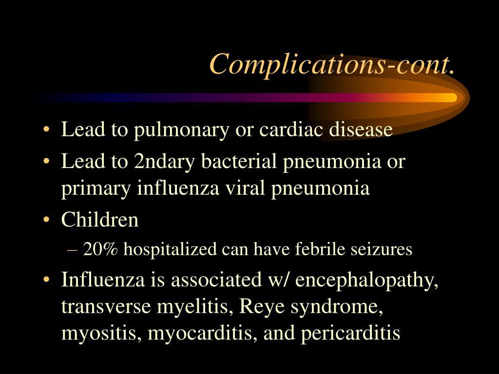 Complications-cont.