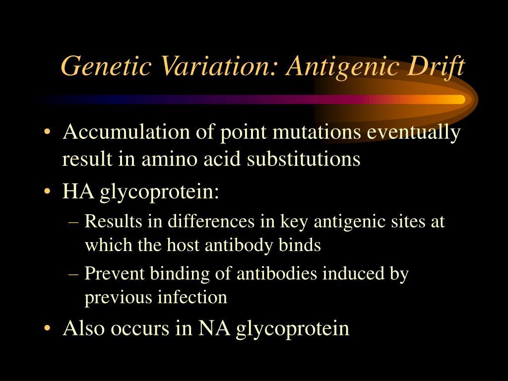 Genetic Variation: Antigenic Drift