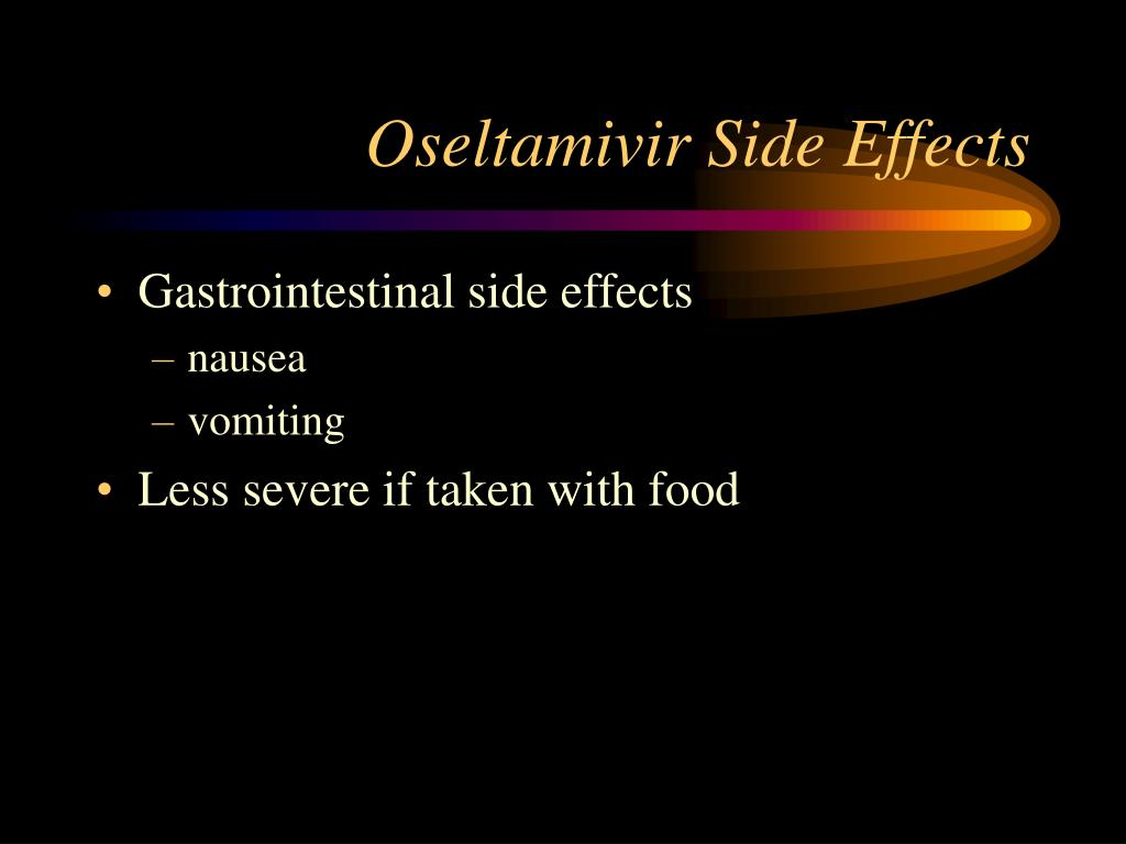 Oseltamivir Side Effects