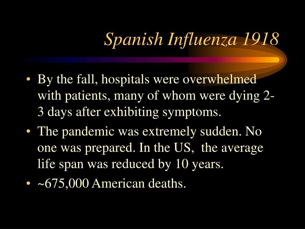Spanish Influenza 1918