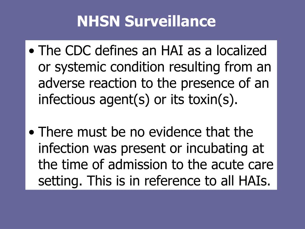 NHSN Surveillance