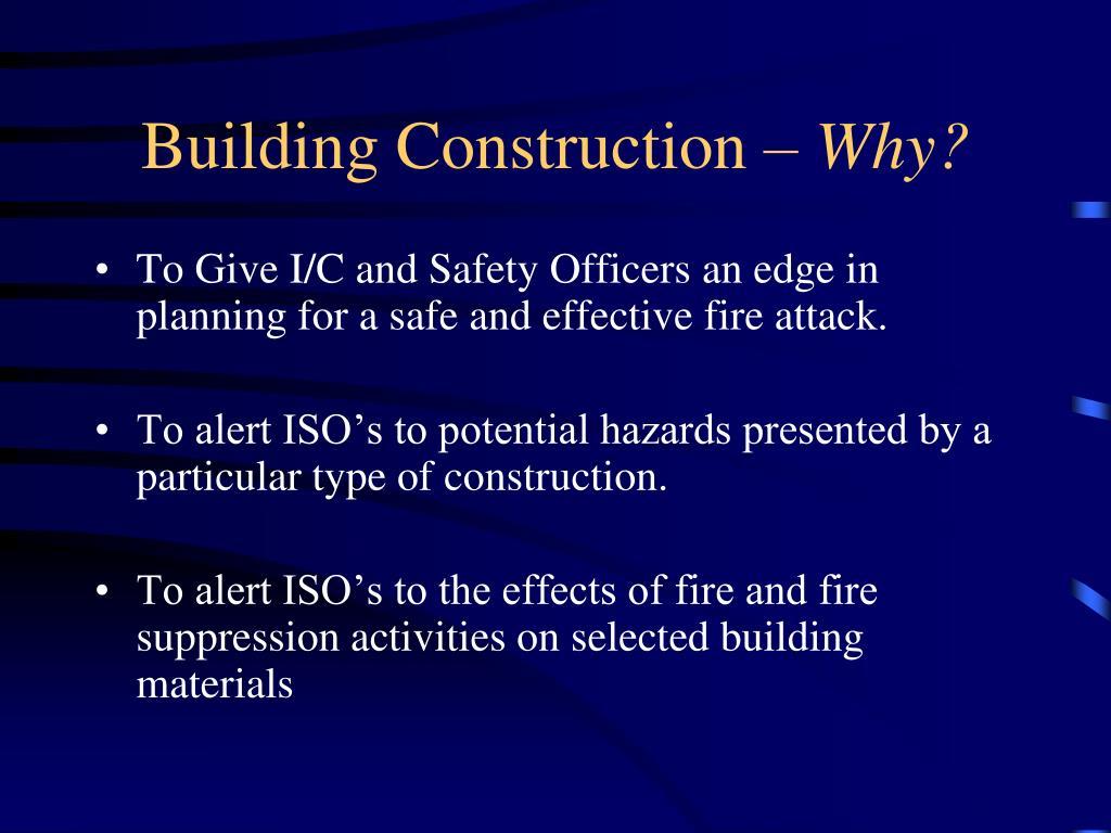 Building Construction –