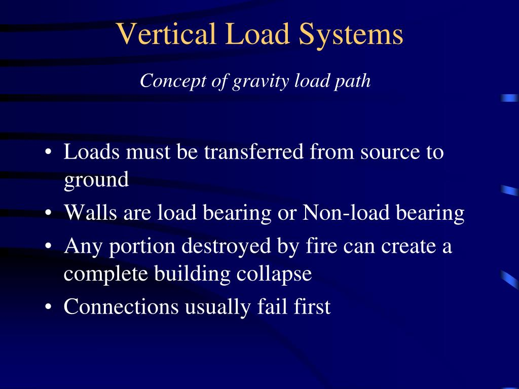 Vertical Load Systems