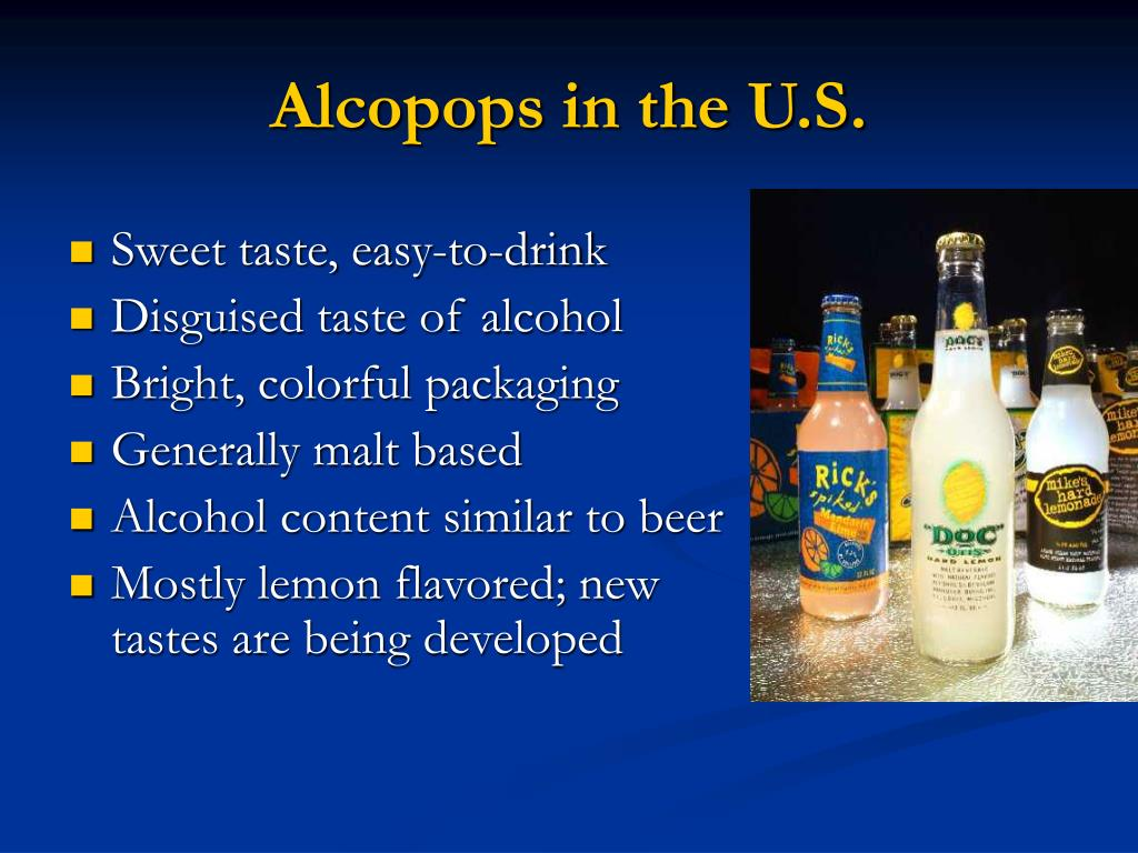 Alcopops in the U.S.