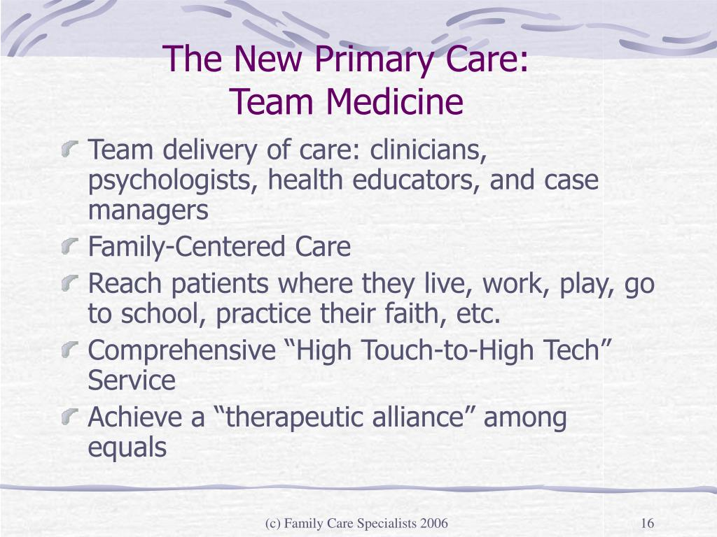 The New Primary Care: