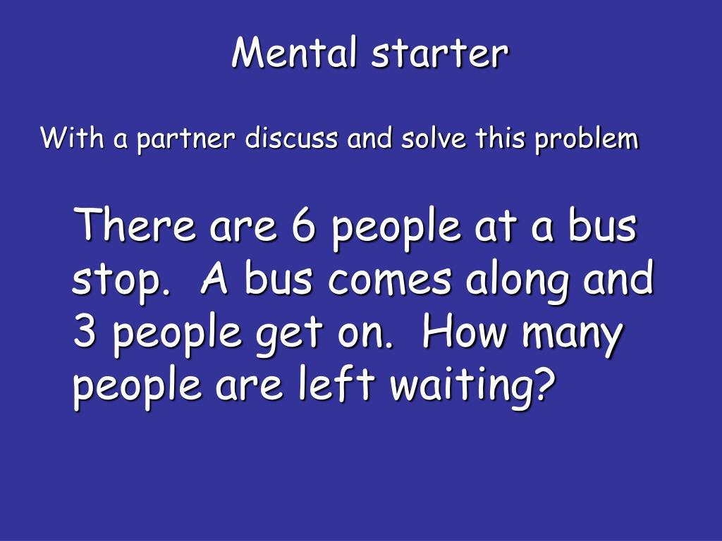 Mental starter