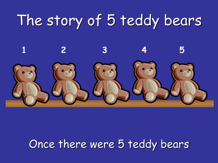The story of 5 teddy bears l.jpg