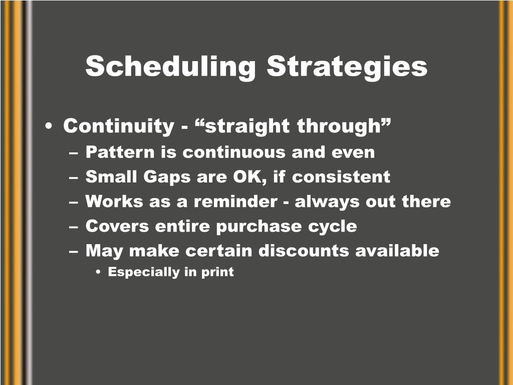 Scheduling Strategies
