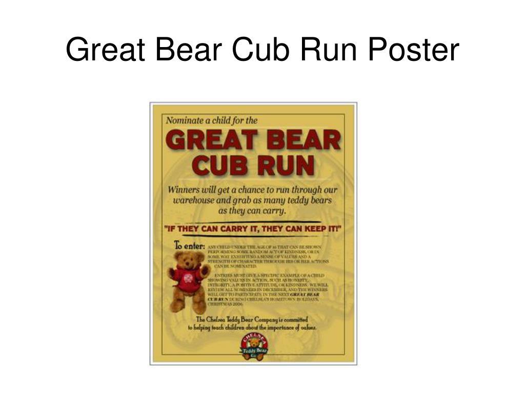 Great Bear Cub Run Poster