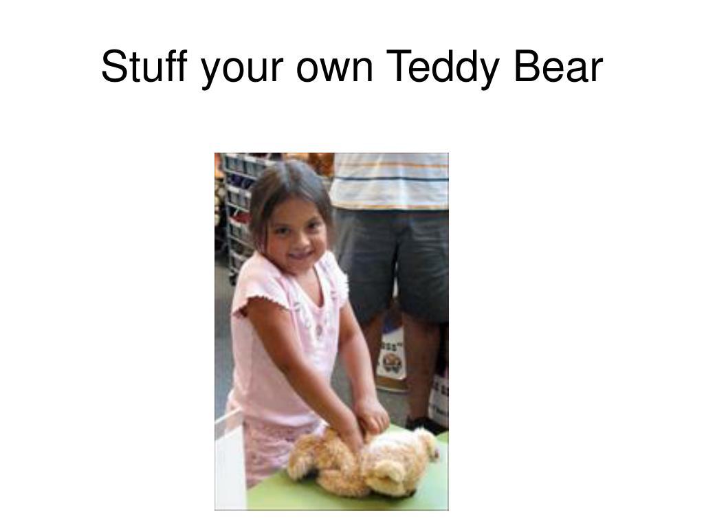 Stuff your own Teddy Bear