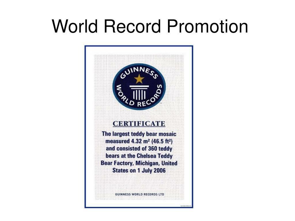 World Record Promotion