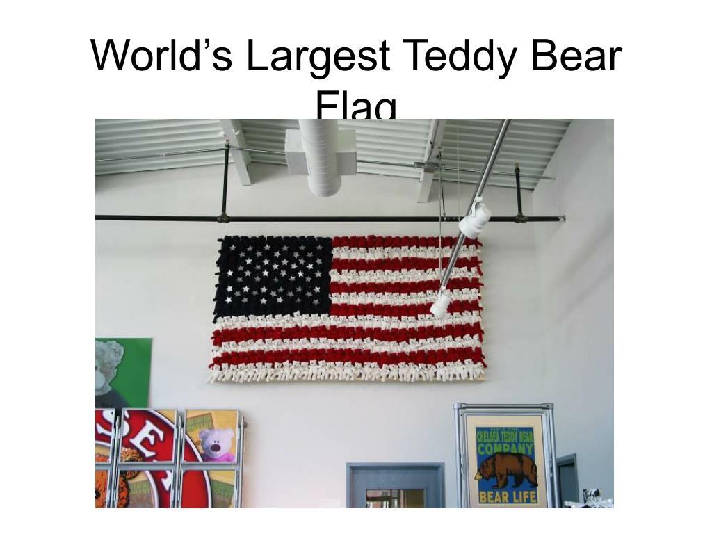 World's Largest Teddy Bear Flag