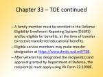 chapter 33 toe continued