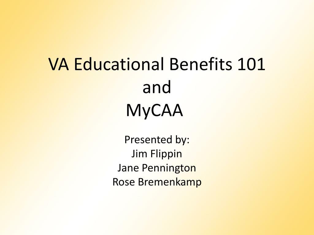 VA Educational Benefits 101