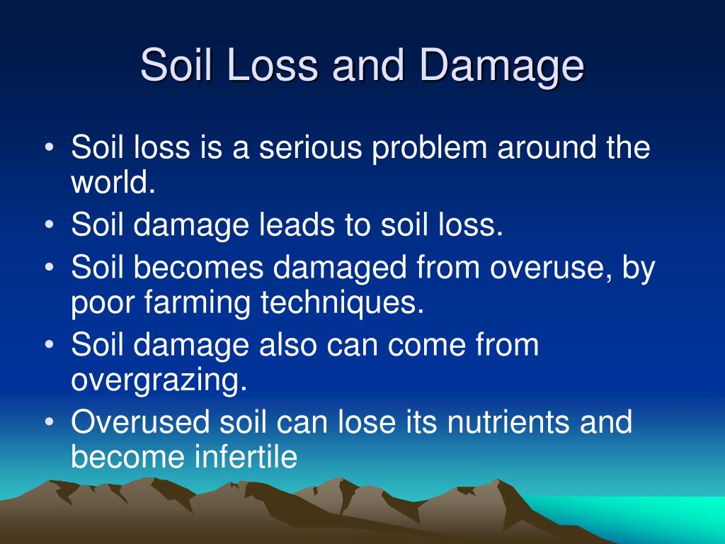 Soil Loss and Damage