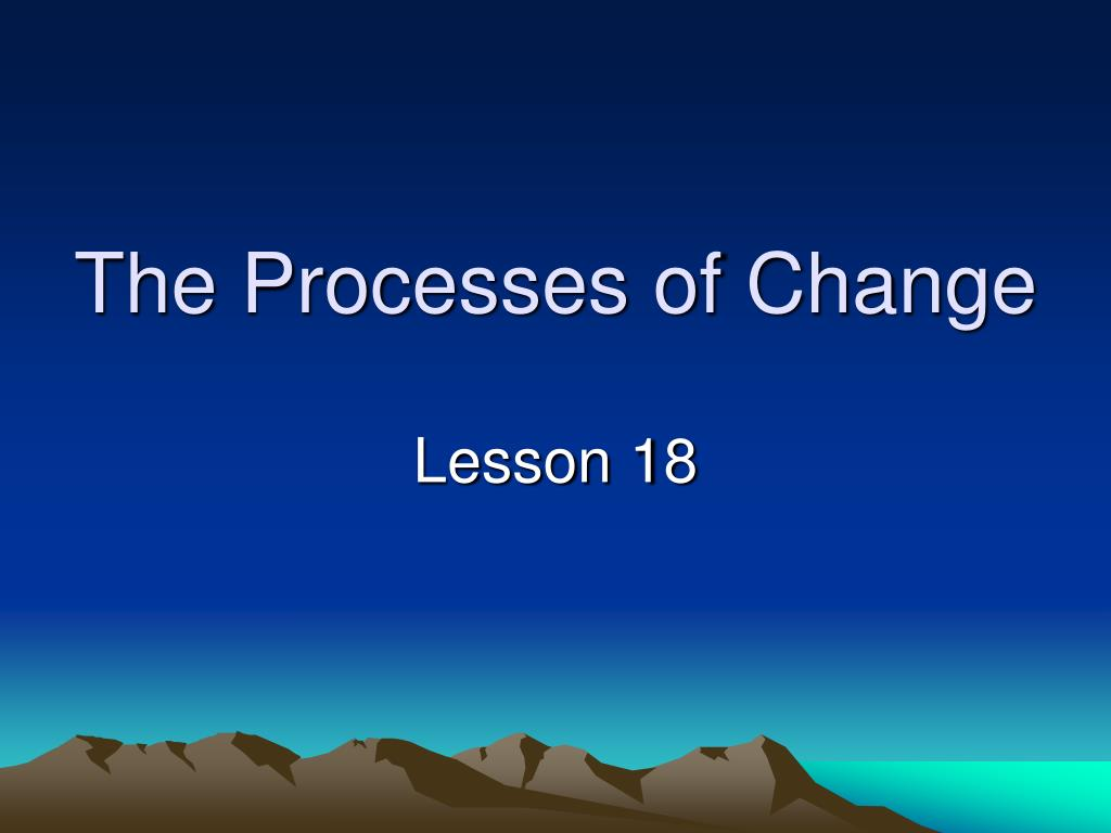 The Processes of Change