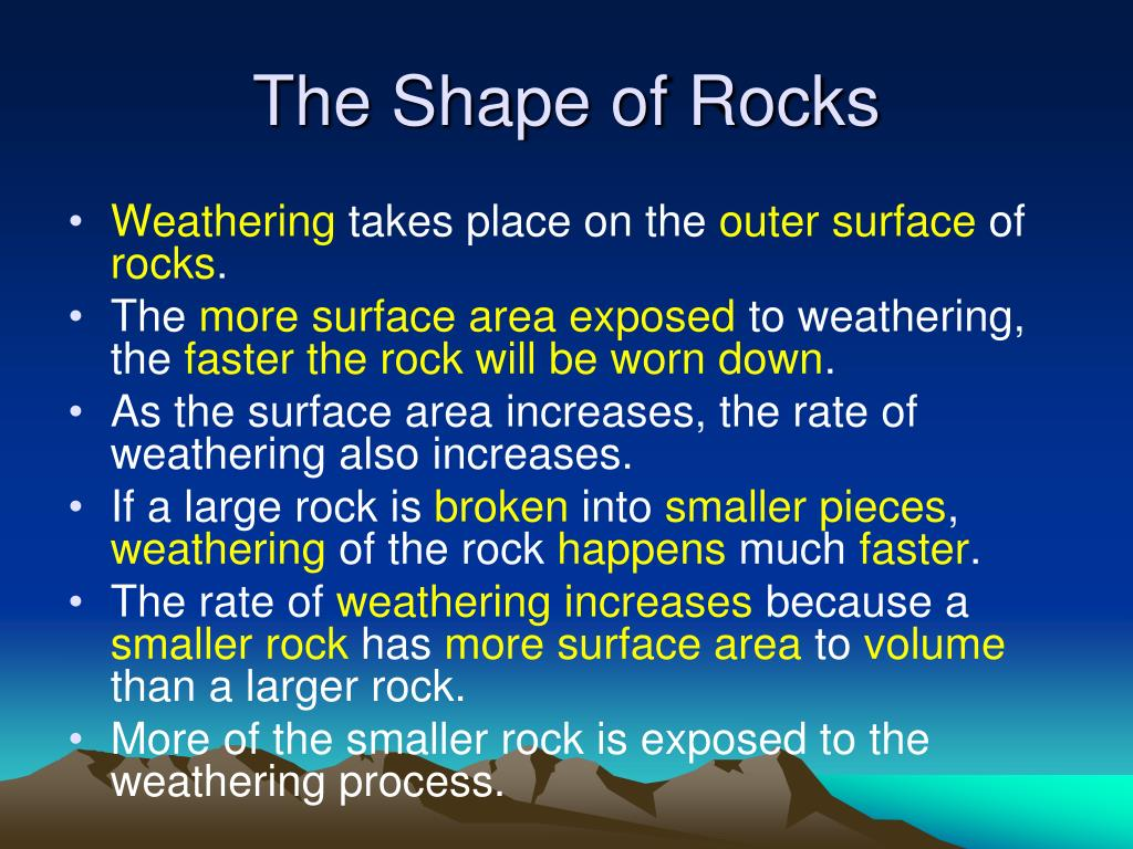 The Shape of Rocks
