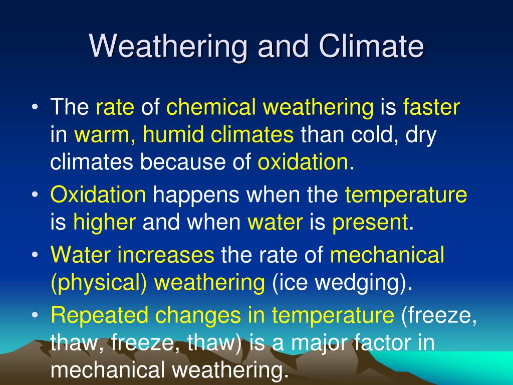 Weathering and Climate