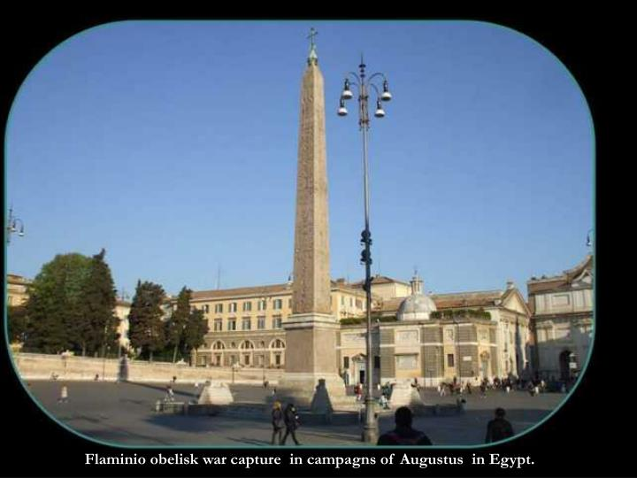 Flaminio obelisk war capture  in campagns of Augustus  in Egypt.